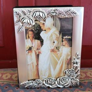 Vintage Roses Photo Album. Flowers. Silverplated